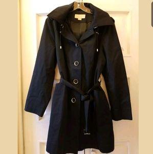 Michael Kors Parka W/Hood Rain Coat Black Sz XL
